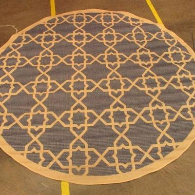 6'7 Round Outdoor Area Rug