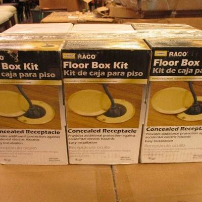 LOT of 6 RACO Floor Box Kits (Concealed Receptacle ...