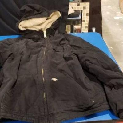 Dickies Sherpa Lined Zippered Hooded Coat Sz Med R ...