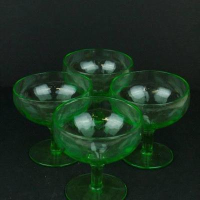 Depression Glass Sherbet Glasses...