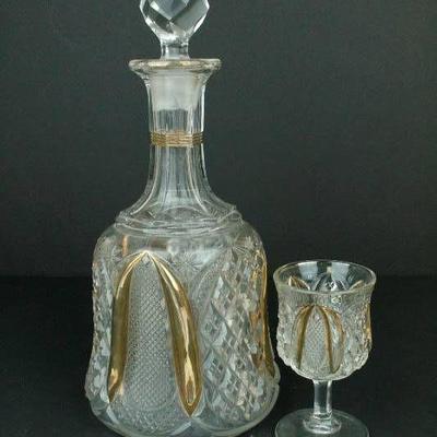 Crystal Decanter & Goblet