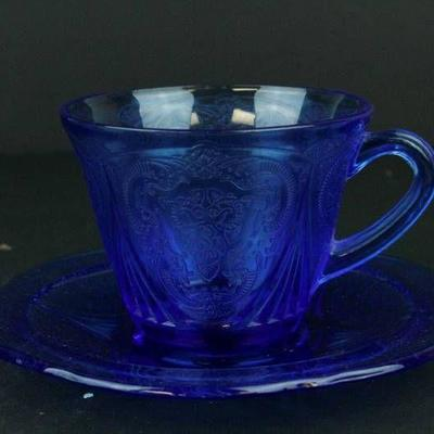 Depression Glass Cup & Saucer