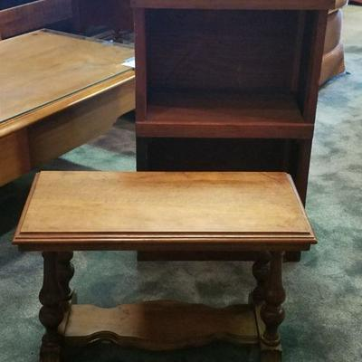 Bookshelf and Table