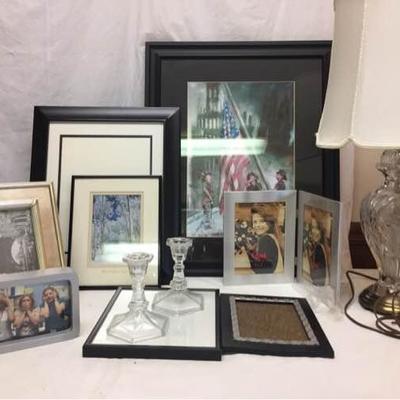 Art, Frames, & Lamp