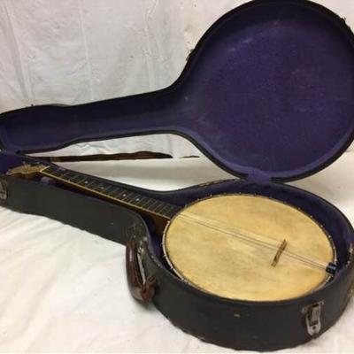 Vtg Little Wonder Banjo