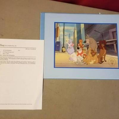 Oliver and Company Authentic Lithograph