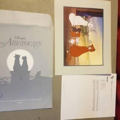 Authentic Aristocats Lithograph