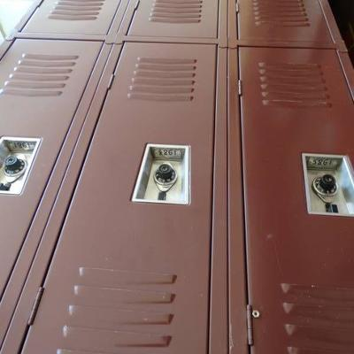 3 Sets of lockers..