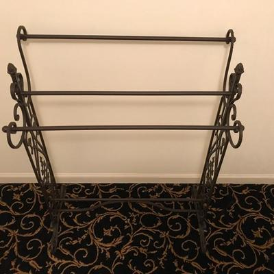 Brown Wrought Iron Quilt Rack