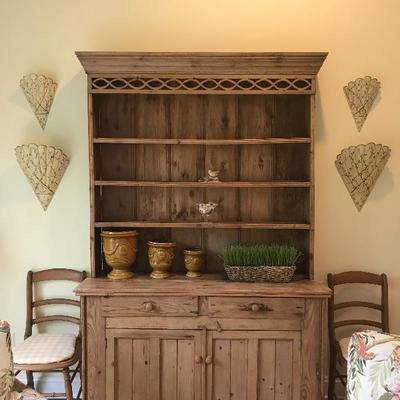 Pine Welsh Stepback cabinet