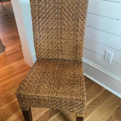 Rattan chair with slipcover $110 each 4 available