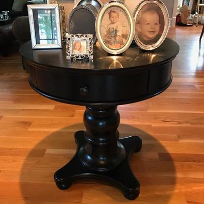 Pedestal table with drawer $199 28 X 30