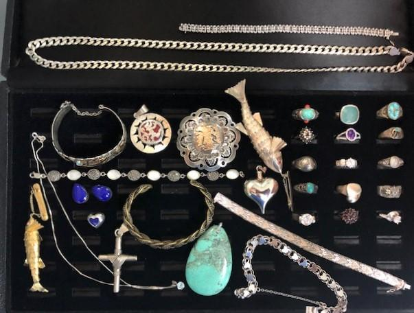 Many Sterling Silver pieces including Taxco and other Mexican Silver