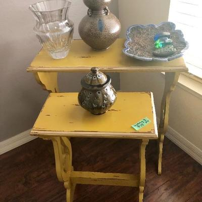 Set of 3 Shabby Chic Nesting Tables - $75 (One table not pictured)