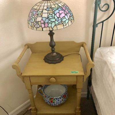Antique Wash Stand w/side Towel Bars & Drawer - $125 - (23W  15D  32H)
