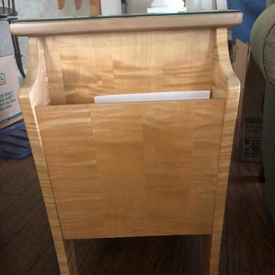 Custom-Made Tiger Maple Magazine Table - $295 - (28 x 15 x 24H)
