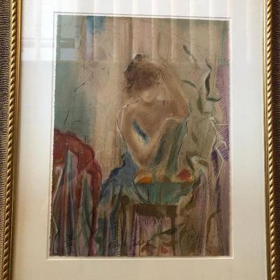 CH082: ECOLE DE BALLET III BY JANET TREBY framed serigraph 300/385 Local Pickup  https://www.ebay.com/itm/123829034585