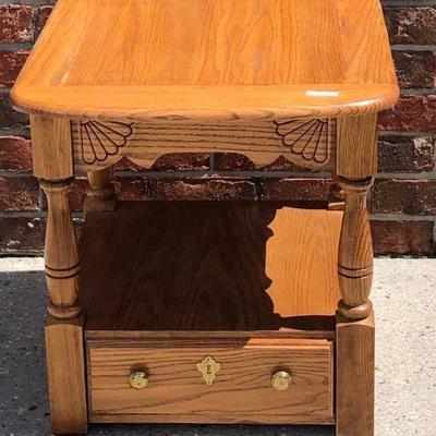 BR0116 Blond End Table # 2 $35 https://www.ebay.com/itm/113816153168