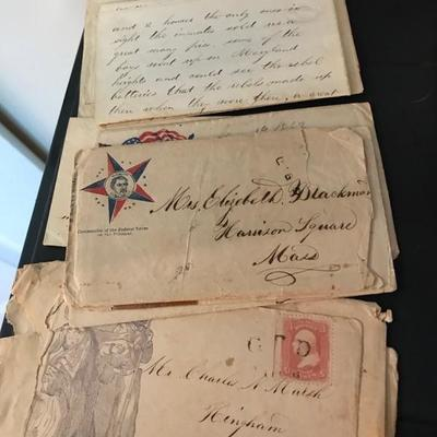 7 letters written during the Civil War $140
