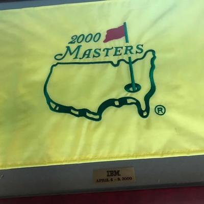 Framed Masters flag $95