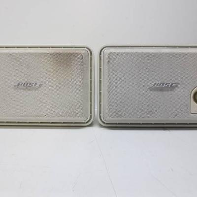 Lot of 2 white Bose speakers