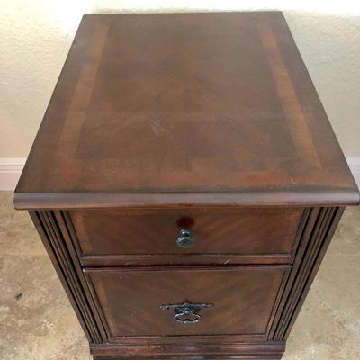 Matching 1+1/2 Drawer Wood File Cabinet - $30 - (17-1/2W  22D  24H)