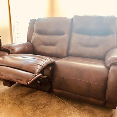 Southern Motion Double-Reclining Faux Leather Loveseat - $95 - (66W  40D  41H)
