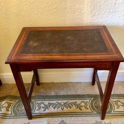 Wood Occasional Table w/Carved Top - $125 - (16W  24L  24H)