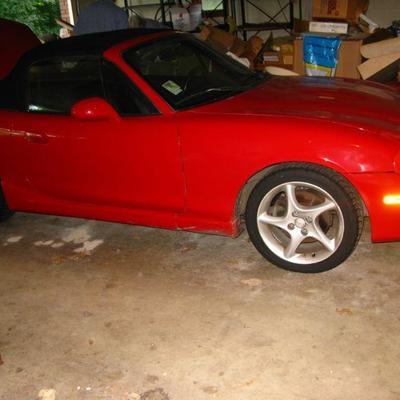 2003 Mazda convertible   low miles   BUY IT NOW