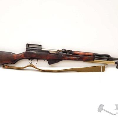 300:  Russian SKS 7.62x39mm Semi Auto Rifle, CA Transfer Available Serial Number 4391 Barrel Length: 20.375