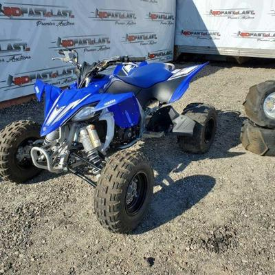 2009 Yamaha YFZ 450R Quad, Blue/ Black/ White 449cc Liquid Cooled, Fuel Injected 4-Stroke motor, Electric Ignition, Front and Rear...
