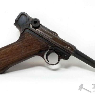 200:  Mauser Luger 9mm Semi-Auto Pistol, CA Transfer Available Serial Number: 4384 Barrel Length: 3.75