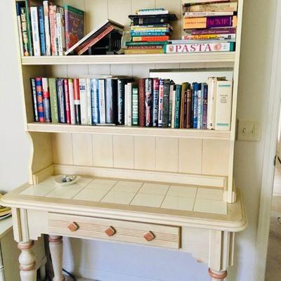 Hutch Desk w/Tile Top - $110 (48W  18D  76H)