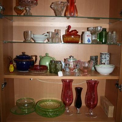 Depression Era & Collectible Glassware. Collectible Porcelain Teapots