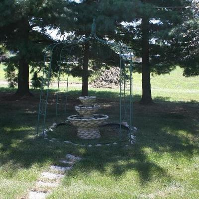 Metal Garden Arbor Patio Arch Trellis Pergola Backyard Gateway Outdoor Archway