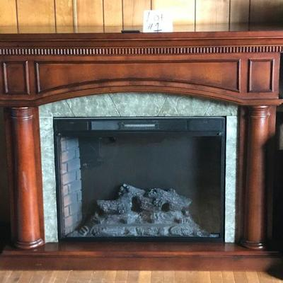 Twinstar Electric Fireplace with Remote Model No. 33EF01GRA
