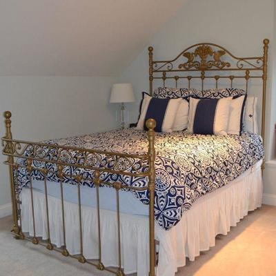 Full cast metal bed