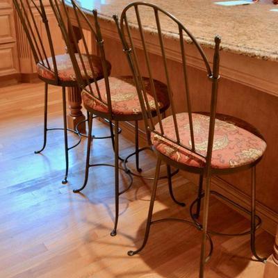 Set of 4 swivel stools