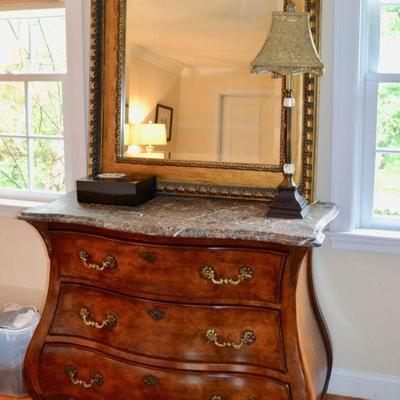 Century Furniture marble top chest