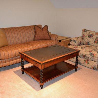 Cisco sofa and Sealy club chair