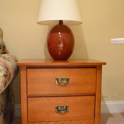 One of a pair of Bassett Furniture nightstands