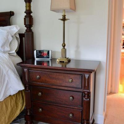 One of a pair of Lane Furniture National Geographic Collection nightstands