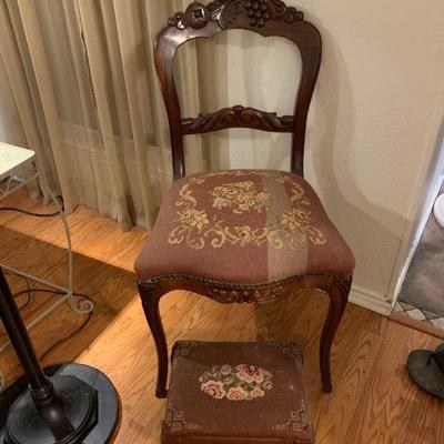 antique chair ottoman