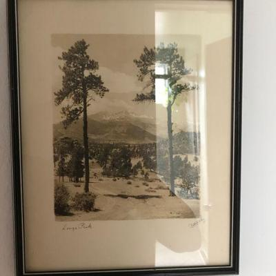 Antique Photograph Longs Peak Colorado By Fred Payne Clatworthy