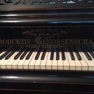 Late 19th c. Produktiv-Genossenschaft Opus 2065 Baby Grand Piano.