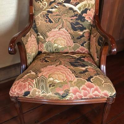 Upholstered arm chair $125 2 available