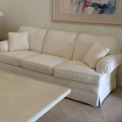 2 white on white sofas in great condition