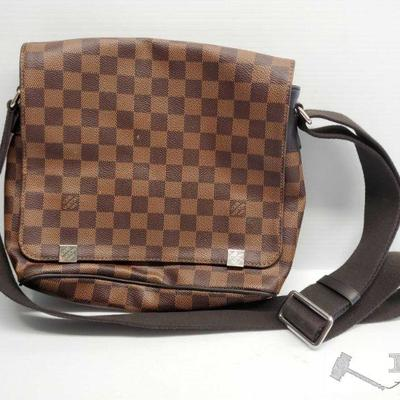Nonauthenticated, Louis Vuitton Dark/Light Brown Side Bag Nonauthenticated, Louis Vuitton Dark/Light Brown Side Bag