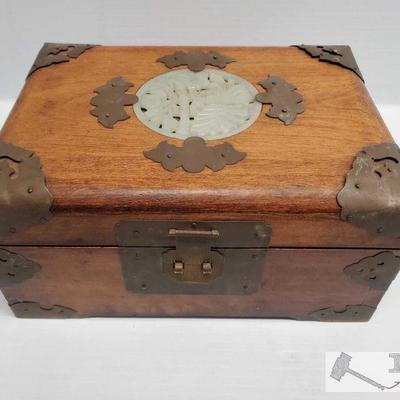 Chinese Wood Jewelry box w/ organizer tray Chinese Wood Jewelry box w/ organizer tray