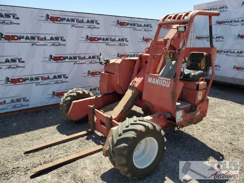 2004 Manitou TMT 320 FLHT Forklift 1601 hours. 5500lb Capacity. Diesel Motor